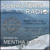 Mentha b2b Shiva - Subaltern Radio16/03/2017 on SUB.FM
