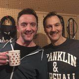 David Morrissey with Peter Serafinowicz  (22/02/2016)