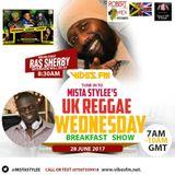 uk reggae wednesdays breakfast show on www.vibesfm,net. 7am-10am uk time, speaking to ras sherby