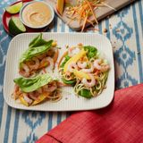 CLEAN LIVING? Satay noodle lettuce wraps with Mango and Prawns SAINSBURY'S RECIPE Gorgeous Kitchen