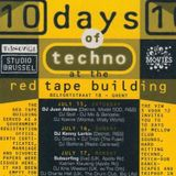 """Luke Slater at """"10 Days Of Techno"""" at Red Tape Building (Gent-Belgium) - 23 July 1995"""