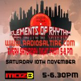 Elements Of Rhythm With Moz-B & Craig Adams 10.11.18