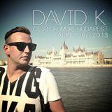 David K. - Live @ Club Urimuri, Budapest - 26.04.2013 /// DOWNLOADLINK @ Beschreibung