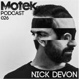 Motek Podcasts 026 - Nick Devon