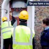 Interview about the eviction of an occupied house in Villa Park, Dublin