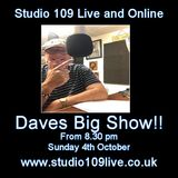Studio 109 Live and Online - Sunday 4th October 2015 - Dave Beeston