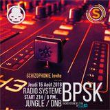 Schizophonie @ Radiosysteme 16 08 18 DJ BPSK Drum & Bass session