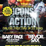 Icons In Action Baby Face Meets Trevor Sax@BarABar Stoke Newington London 22.8.2014
