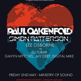 Lee Osborne - Live @ Ministry of Sound (London) - 02.05.2014
