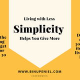 0023: Living With Less Simplicity Helps You Give More