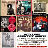 118- Old Time Country Shots (6 Enero 2018)