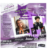 LiveLifeInThePURPLE Show with MLuV 06-20-2017 AuthorSpeaks Guest Yvonne Pierre