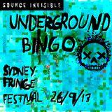 Underground Bingo Mixtape, Sydney Fringe Festival 26/09/2013