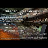 Apok-C on UTR009 (3rd Mix) Underground Transmissions Radio