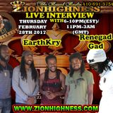 EARTHKRY LIVE INTERVIEW LIVE INTERVIEW WITH DJ JAMMY ON ZIONHIGHNESS RADIO 022817