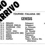Genesis live in Naples(Italy) Teatro Mediterraneo April 19th 1972