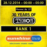 28.12.2014 - 30 Years of Technoclub - Sunshine Live Broadcast - Rank 1