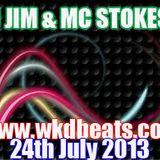 DJ Jim Mc Stokesy Live on www.wkdbeats.com 24.7.13