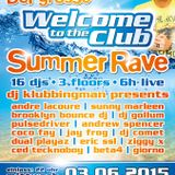 Pulsedriver live @ Welcome to the club summer rave 2015