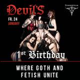 Devil'S - where Goth & Fetish unite - in the Dungeon of Insomnia Berlin Fr. 24 January 2020 - DjARi