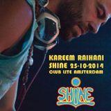 Kareem Raïhani  SHiNE  25-10-2014  Club Lite Amsterdam