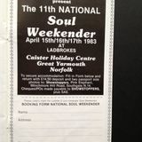 Martin Collins,Froggy &Robbie Vincent Live at The 10th Caister Soul Weekend Sunday 17th October 1982