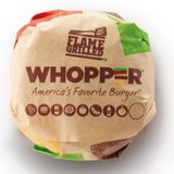 Whopper with cheese - No garnish No mayo.