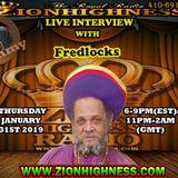 FREDLOCKS LIVE INTERVIEW WITH DJ JAMMY ON ZIONHIGHNESS RADIO 013119