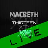 [013-0] Thirteen LIVE @ Boiler Room SL