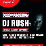 DJ Rush @ Decompression, LVC, Leiden (12-10-2012)