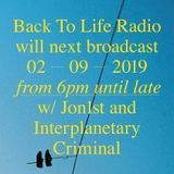 Jon1st Guest Mix for Back To Life Radio