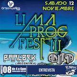 Ktarsis especial Lima Prog Fest 8-11-16