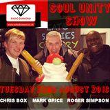 Soul Unity Show on Radio Diamond, with Mark Grice, Chris Box & Roger Simpson.  Tuesday 23/8/2016
