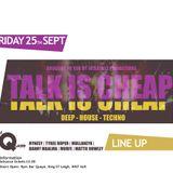 TALK IS CHEAP SEPTEMBER CD !!