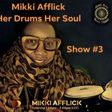 Mikki Afflick on Drums Radio