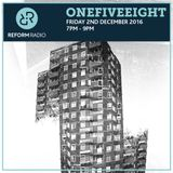 OneFiveEight 2nd December 2016