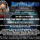 Heavy Rock Rapture June 13 2017 feat Finnish band Sapata plus new JORN & Snakecharmer tracks