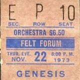 Felt Forum - NewYork - November 22nd 1973 The Thanksgiving show