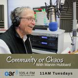 Community Or Chaos - 12-06-2018 - Peace Action Aotearoa - Tim Jones and Edwina Harris