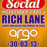 Rich Lane @ Social. Ableton Live set, Easter Bank Hol. Weekender 2013, Argo, Newcastle-U-Lyme