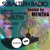 Mentha b2b Mejle - Subaltern Radio 24/07/14 on SUB FM