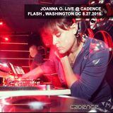 JOANNA O. LIVE @ CADENCE @ FLASH WASHINGTON DC 8.27.2015