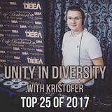 Kristofer - Top 25 of 2017 (Unity in Diversity 468)
