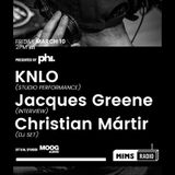 MIMS RADIO Weekly Session (03.10.17) feat Knlo, Jacques Greene, Christian Martir