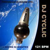 DJ Cyclic 7/27 2018 show 70 - progressive house etc. 3 hours 32 minutes