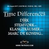 Dirk - Host Mix - Time Differences 274 (6th August 2017) on TM-Radio