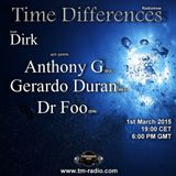 Time Differences Radioshow Guest: (Gerardo Duran) 1st March 2015