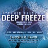Pyramid Deep Freeze - Nate Howell 1/30/16