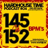 Hardhouse Time @ Worldjs 145 Vs 152 Bpm's 28/08/2014 PODCAST #04
