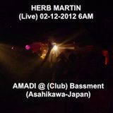 AMADI @ Bassment, Herb Martin - Live  (Asahikawa, Japan Feb 2012 - 6AM)